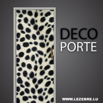 Dalmatian door decal