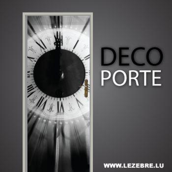 Clock door decal