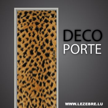 Leopard door decal