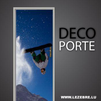 Sticker Déco Porte Snowboard, Sticker Déco
