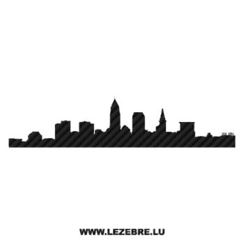 Silhouette Cleveland Carbon Decal