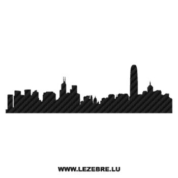 Silhouette Hong Kong Carbon Decal