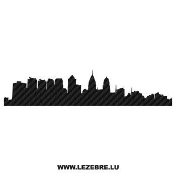 Sticker Carbone Silhouette Philadelphia