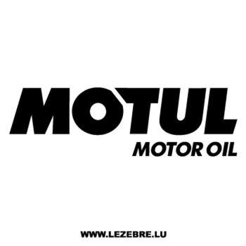 Sticker Motul Motor Oil