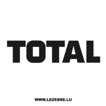 Total Logo Carbon Decal 2