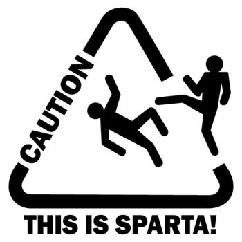 Caution This is sparta Decal