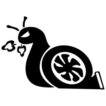 Fast Turbo Snail Decal