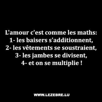 t shirt L'amour c'est comme les maths