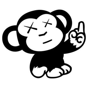 JDM Decal Little Monkey