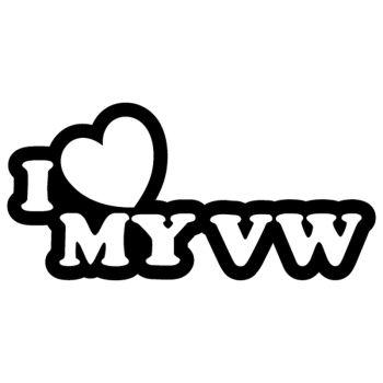 Sticker JDM I Love My VW