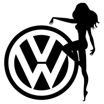 Sticker JDM VW Sexy Girl