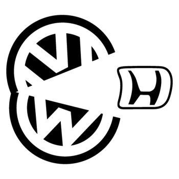 Sticker JDM VW Pacman Honda Eater