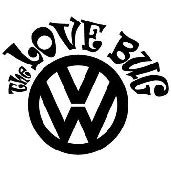 Sticker JDM VW The Love Bug