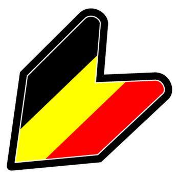 Sticker JDM Drapeau Belgique
