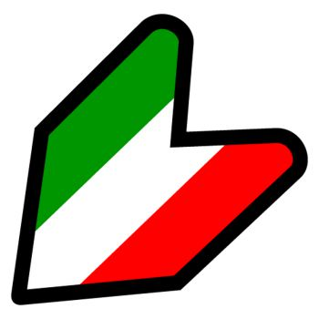 JDM Italy flag Decal