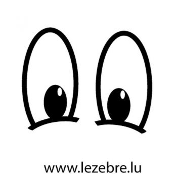 Cartoon Eyes Decal 3
