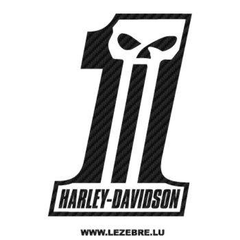 Harley Davidson Dark Custom Carbon Decal