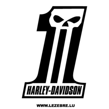 Sticker Harley Davidson Dark Custom ★