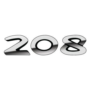 Sticker Peugeot 208 effet 3D