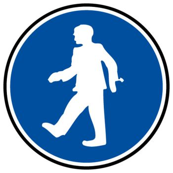 Decal passage mandatory pedestrians