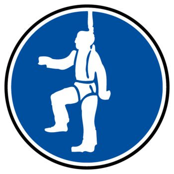 Decal mandatory protection against falling