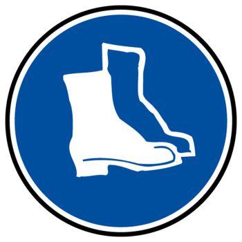 Sticker protection obligatoire pieds