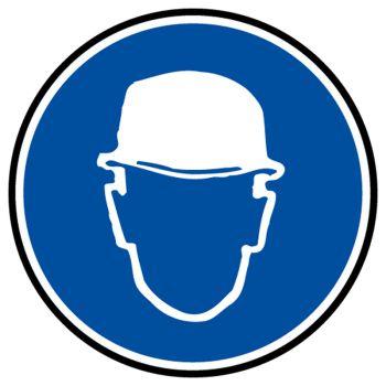 Sticker protection obligatoire tete