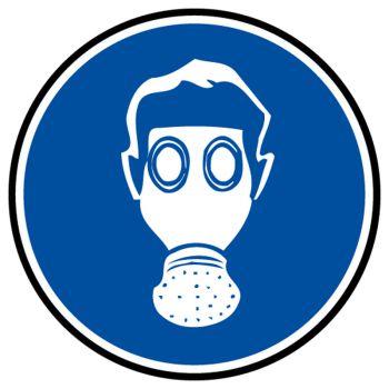 Decal mandatory respiratory proctection
