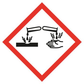 Decal corrosive substances
