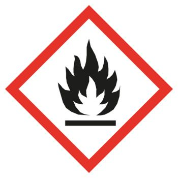 Decal flammable materials