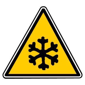Sticker danger basse temperature