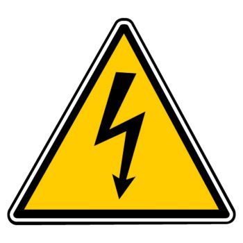 Sticker danger electrique