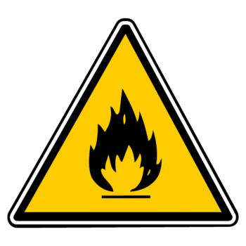 Sticker danger incendie