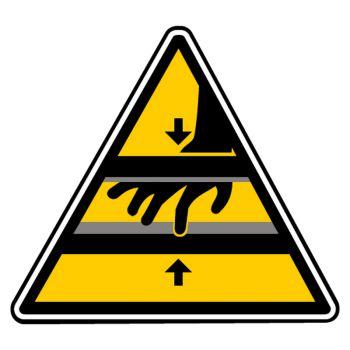 Sticker danger lames non protegees
