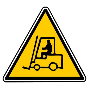 Sticker danger vehicules manutention