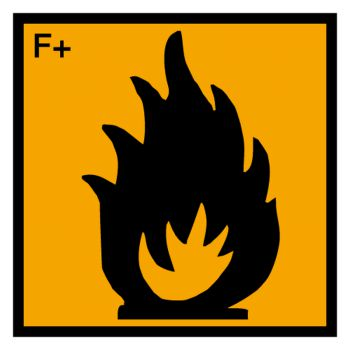 Sticker matiere extremement inflammable