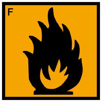 Sticker matiere facilement inflammable