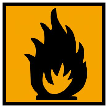 Sticker matiere inflammable