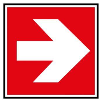 Sticker direction a suivre droite