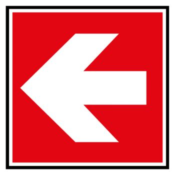Sticker direction a suivre gauche