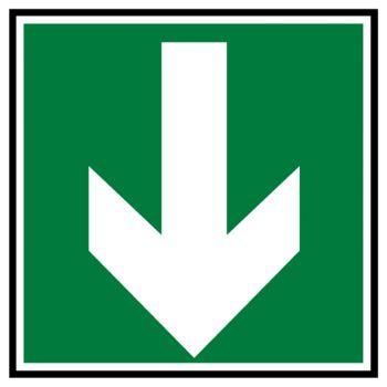 Sticker secours direction a suivre bas