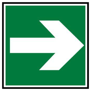 Sticker secours direction a suivre droite