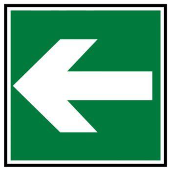 Sticker secours direction a suivre gauche