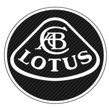 Sticker Carbone Lotus Logo