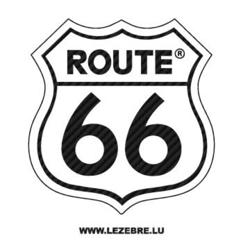Route 66 Carbon Decal