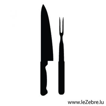 Knife and Meat fork Decal