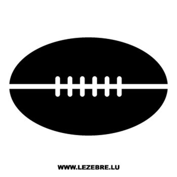Sticker Ballon Rugby