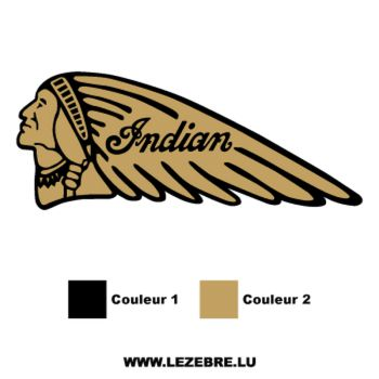 Sticker Deco Indian Logo 5