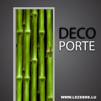 Sticker Déco Porte Bamboo