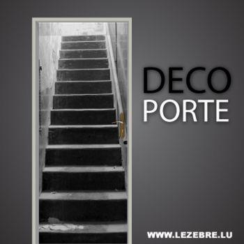 Stairs door decal